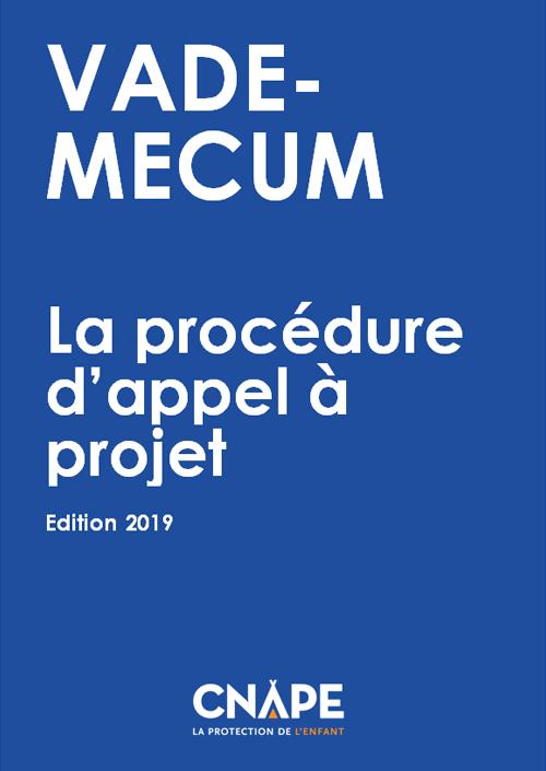Couverture VADE-MECUM : VADE-MECUM_ La procédure d'appel à projet